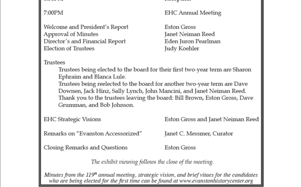 EHC's 120th Annual Meeting